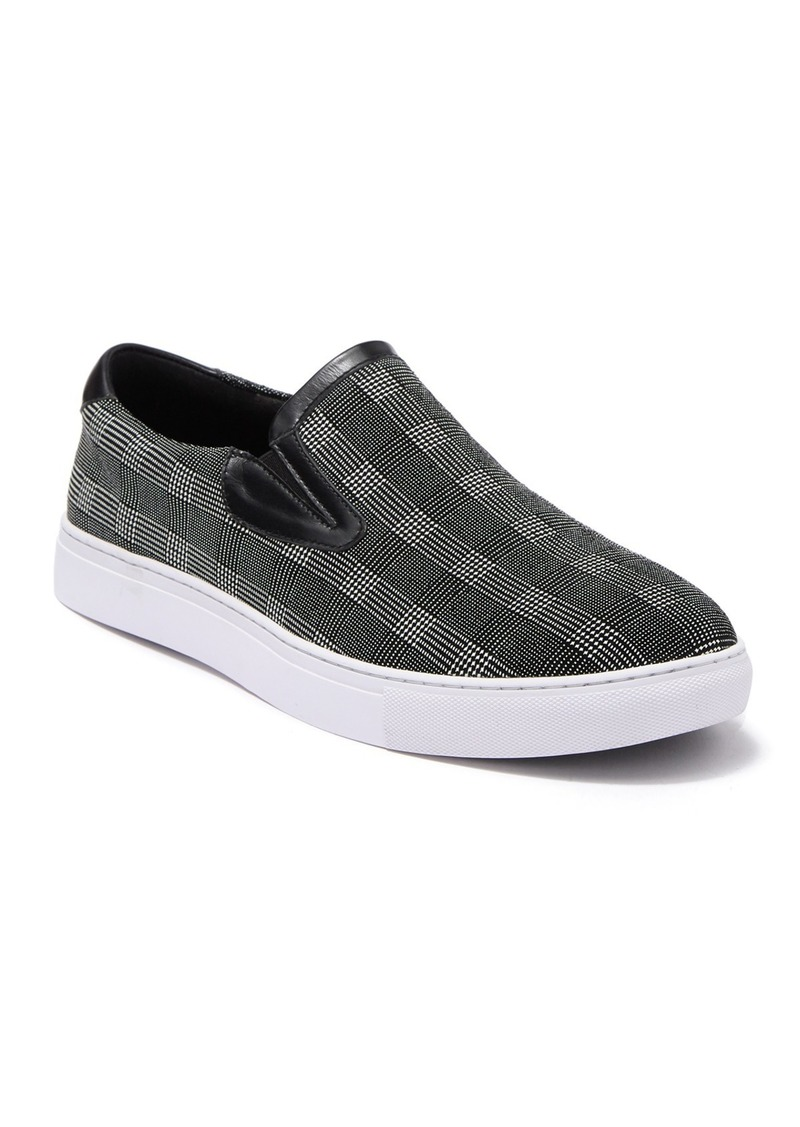 Robert Graham Seldon Printed Leather Slip-On Sneaker