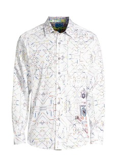 Robert Graham Short Circuit Print Sport Shirt