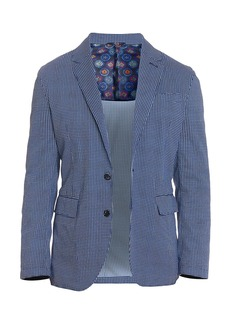 Robert Graham Tailored-Fit Hamilton Seersucker Mini-Check Sportcoat