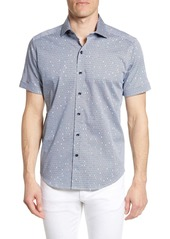 Robert Graham Tailored Fit Hexagon Print Shirt