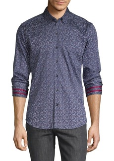 Robert Graham Tailored-Fit Printed Stretch Shirt