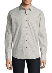 Robert Graham Textured Cotton Casual Button-Down Shirt
