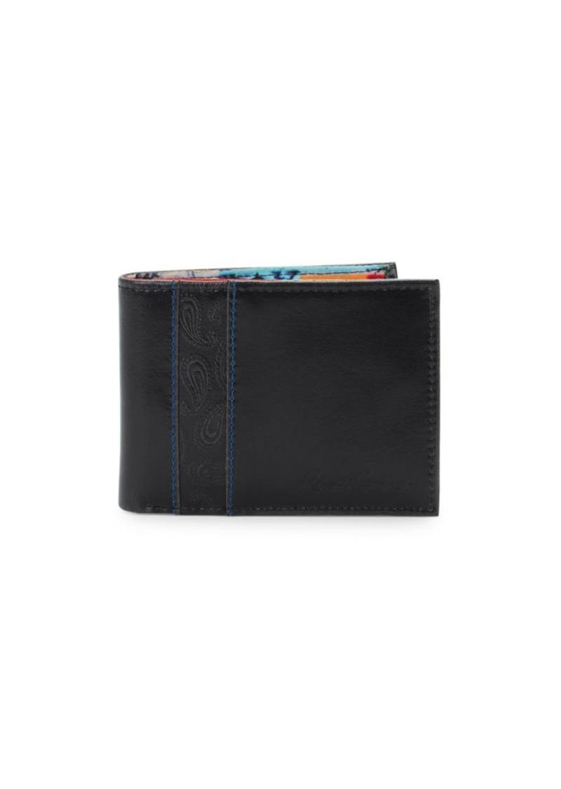 Robert Graham Textured Leather Bi-Fold Wallet