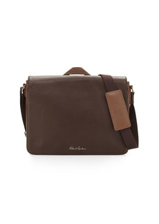 Robert Graham Textured Leather Messenger Bag