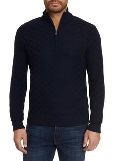 Robert Graham The Vasa Quarter-Zip Mockneck Sweater