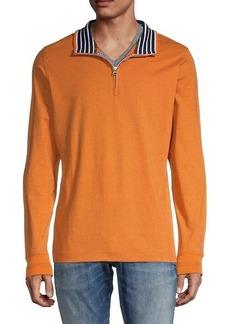 Robert Graham Triple Crown Cotton Quarter-Zip Pullover
