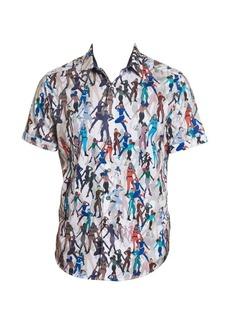 Robert Graham Trixie Printed Short-Sleeve Shirt