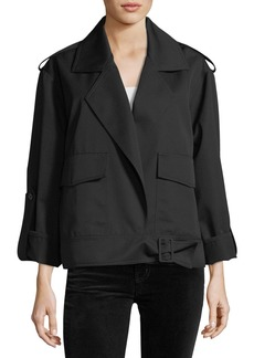 Robert Rodriguez Aviator Open-Front Notched-Collar Wool Jacket
