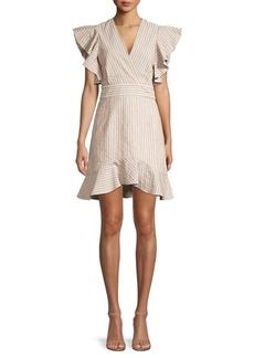 Robert Rodriguez Basia Ruffle Stripe Dress