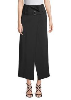 Robert Rodriguez Belted High-Waist Skirt