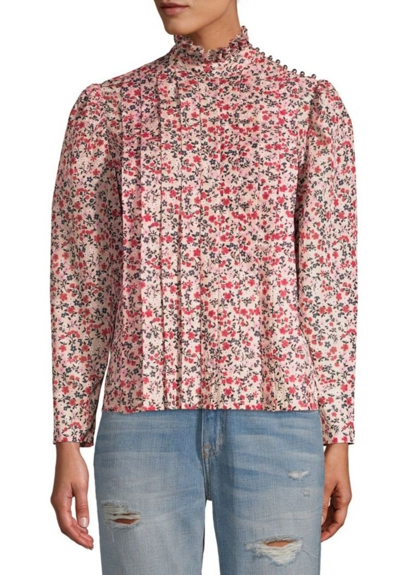 Robert Rodriguez Cayana Pleated Blouse