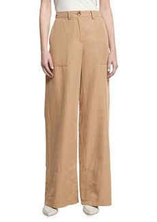 Robert Rodriguez Cotton-Linen Wide-Leg Pants