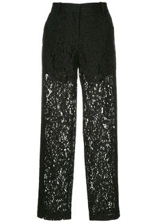Robert Rodriguez cropped lace trousers