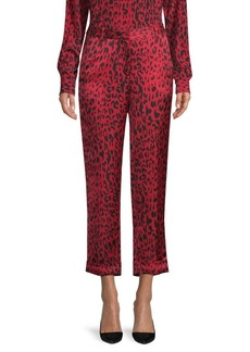 Robert Rodriguez Cropped Leopard Print Pants