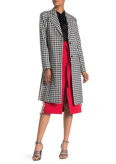 Robert Rodriguez Ines Gingham Belted Double Face Coat