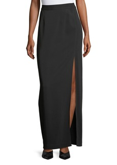 Robert Rodriguez High-Slit Long Skirt