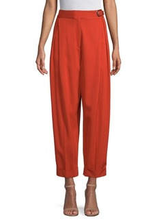 High-Waist Cuffed Trousers