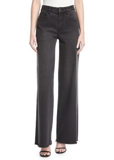 Robert Rodriguez High-Waist Wide-Leg Denim Pants
