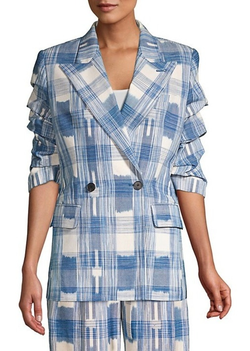 Robert Rodriguez Hollie Plaid Cotton Jacket