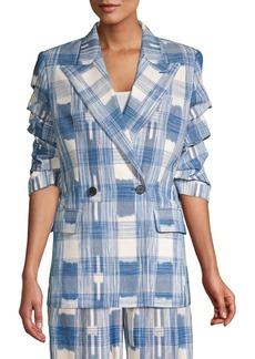 Robert Rodriguez Hollie Plaid Cotton Jacket
