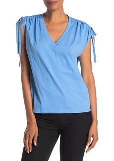 Robert Rodriguez Jade Ruched Tie Shoulder T-Shirt