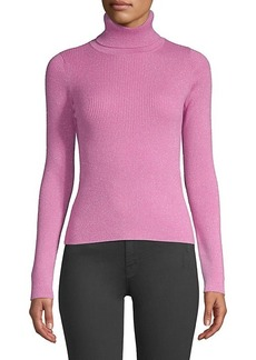 Robert Rodriguez Lurex Ribbed Turtleneck Sweater