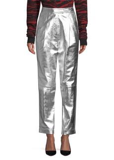 Robert Rodriguez Metallic Leather Trousers