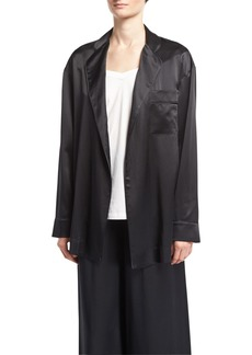 Robert Rodriguez Mid-Length Silk Satin Robe