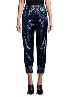 Robert Rodriguez Olympia Metallic Cropped Track Pants