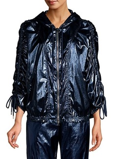 Robert Rodriguez Olympia Metallic Windbreaker Jacket