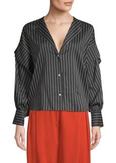 Robert Rodriguez Pinstripe Button-Up Shirt