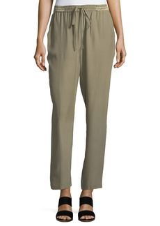 Robert Rodriguez Pintuck Silk Easy Pull-On Pants