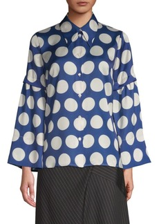Robert Rodriguez Polka Dot Button-Down Shirt