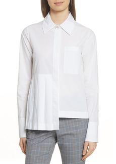 Robert Rodriguez Asymmetrical Pleated Shirt