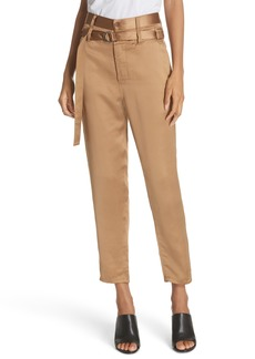 Robert Rodriguez Belted Satin Pants