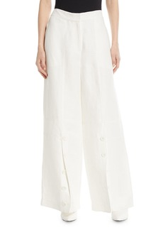 Robert Rodriguez Button-Down Wide-Leg Pants