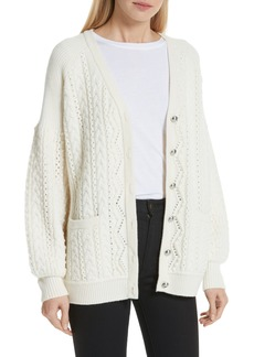 Robert Rodriguez Cable Knit Wool & Cashmere Cardigan