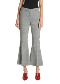 Robert Rodriguez Checked Crop Flare Trousers