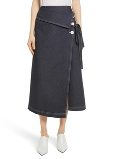 Robert Rodriguez Contrast Stitch Denim Skirt
