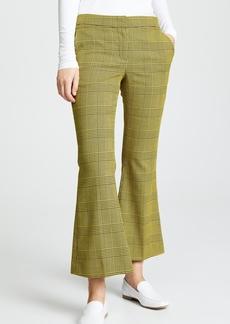 Robert Rodriguez Flare Plaid Trousers