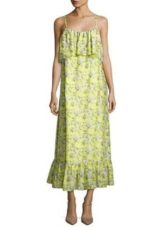 Robert Rodriguez Floral-Print Tiered Maxi Slip Dress