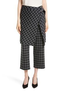 Robert Rodriguez Grid Print Skirted Pants
