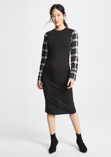Robert Rodriguez Jersey Plaid Dress