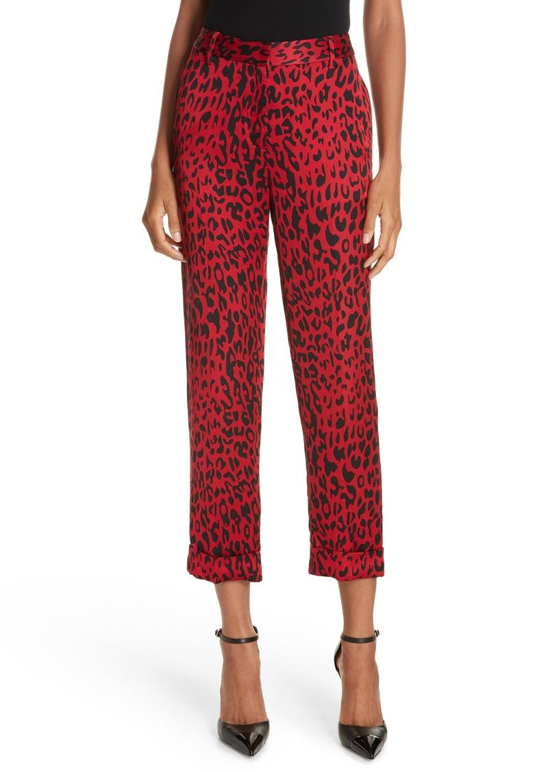 Robert Rodriguez Leopard Print Trousers