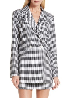 Robert Rodriguez Lexy Mini Check Double Breasted Jacket