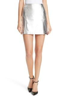 Robert Rodriguez Metallic Leather Miniskirt