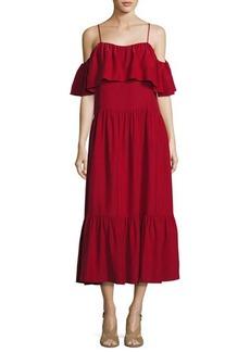 Robert Rodriguez Off-the-Shoulder Ruffled Midi Dress