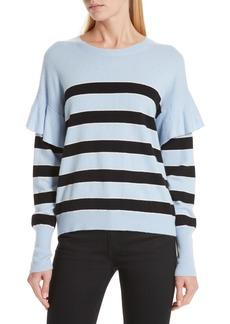 Robert Rodriguez Olivia Ruffle Stripe Sweater