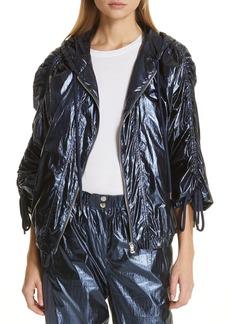 Robert Rodriguez Olympia Metallic Windbreaker Jacket