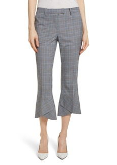 Robert Rodriguez Plaid Layered Hem Crop Trousers